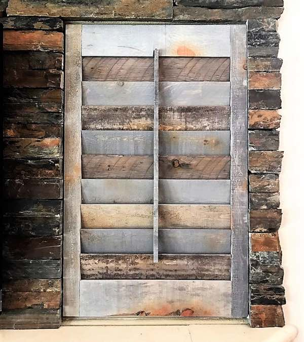 Gainesville reclaimed wood shutter