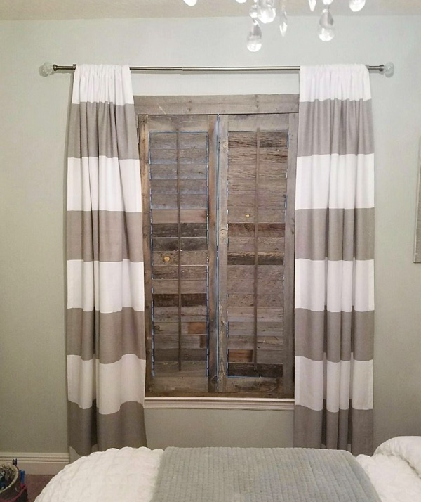 Gainesville reclaimed wood shutter bedroom