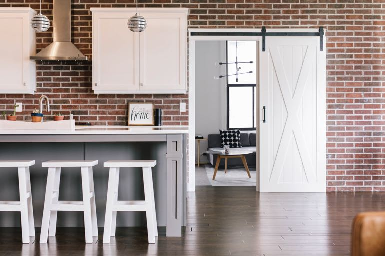 Gainesville modern kitchen barn door