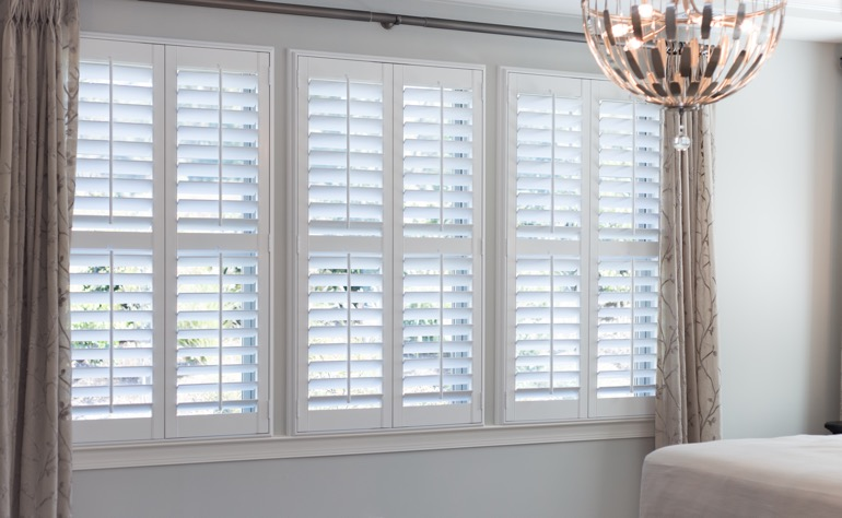 Gainesville plantation shutters master bedroom