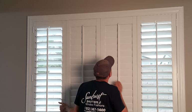 Installation of plantation shutters in Gainesville