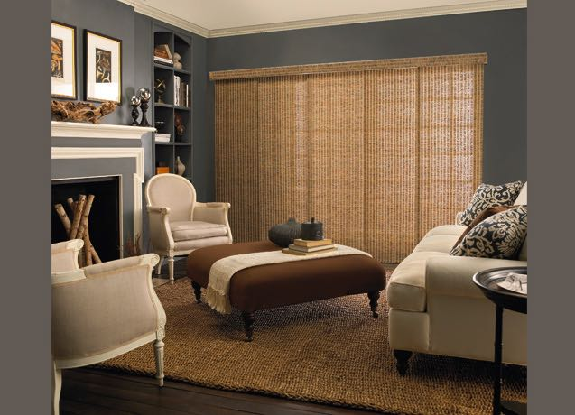Gainesville living room panel track blinds