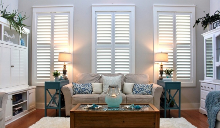 Gainesville modern house with white shutters