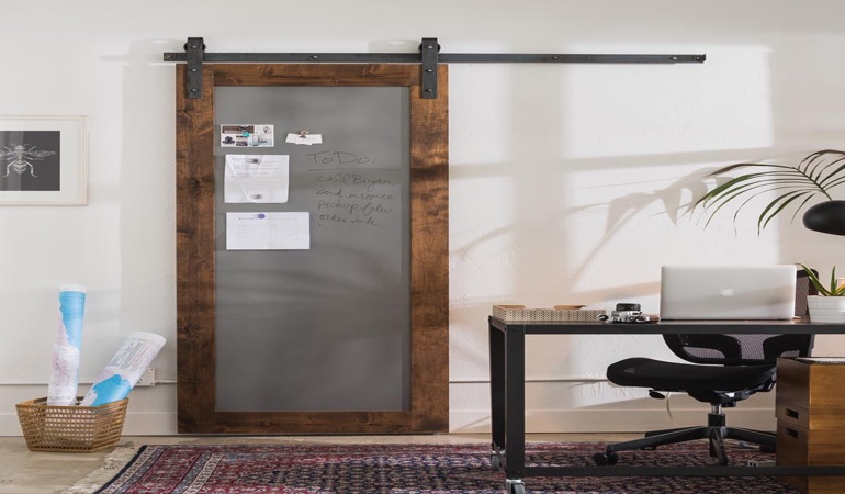 Gainesville home office barn door