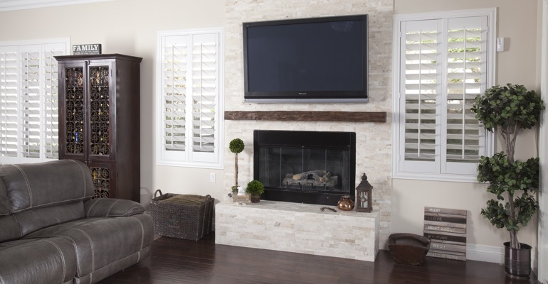 polywood shutters in Gainesville living room