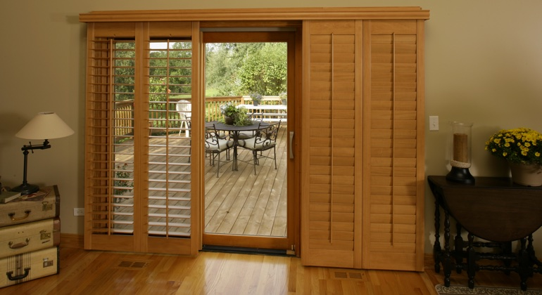 Gainesville wood shutter sliding door