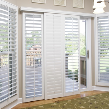Gainesville Sliding Patio Door Shutters