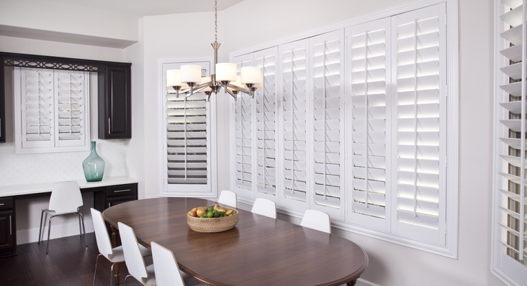 classic shutters in Gainesville kitchen