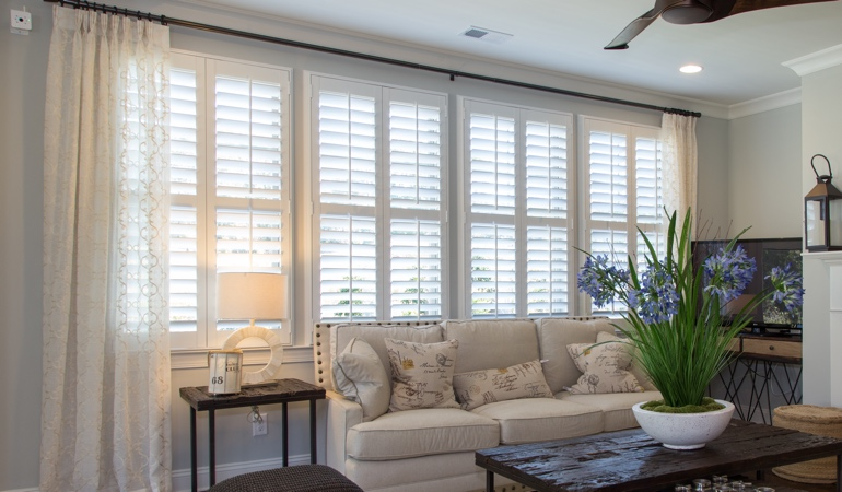 Plantation Shutters in Gainesville Living Room