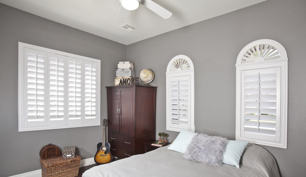 Polywood Shutters In A Gainesville Bedroom