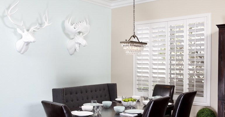 Gainesville dining room shutters