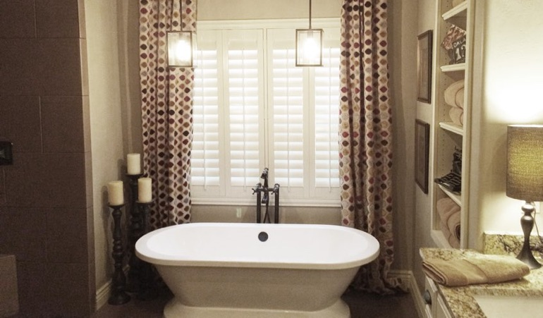 Polywood Shutters in Gainesville Bathroom