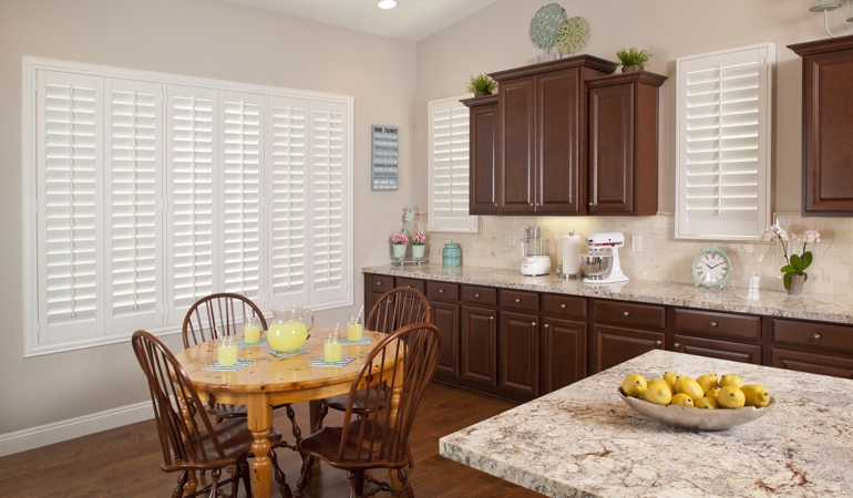 Polywood Shutters in Gainesville kitchen