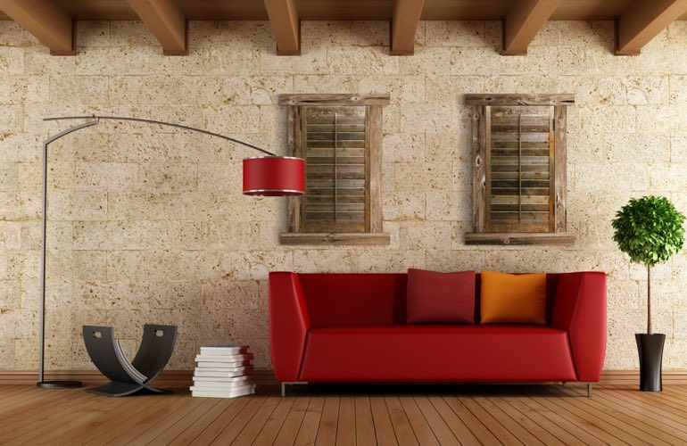 Reclaimed Wood Shutters In A Gainesville Living Room