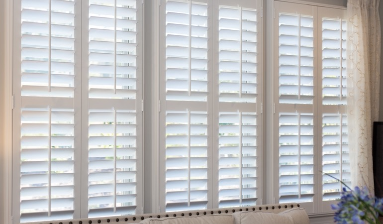Faux wood plantation shutters in Gainesville