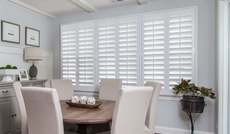 shutters in Gainesville living room
