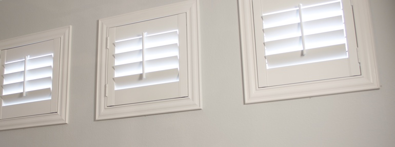 Small Windows in a Gainesville Garage with Polywood Shutters