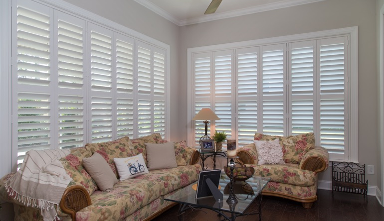 Gainesville sunroom plantation shutters