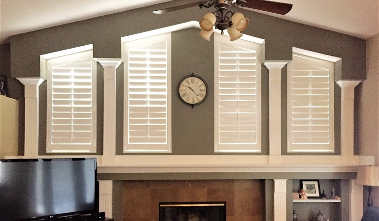 Polywood Shutters in Family Room in Gainesville