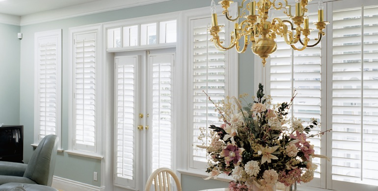 Gainesville sunroom polywood shutters