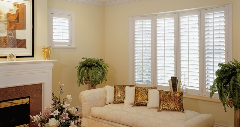 Gainesville living room shutters
