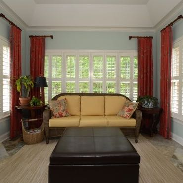 Gainesville sunroom window shutters.
