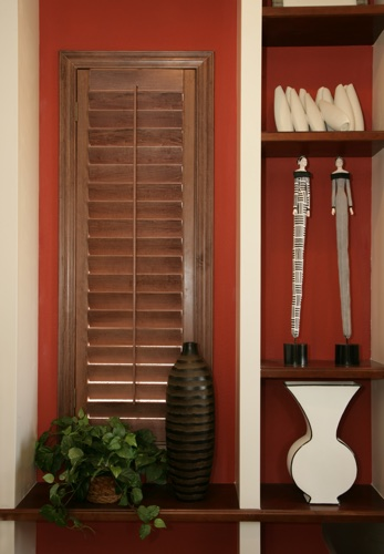 Gainesville wood shutter shelving
