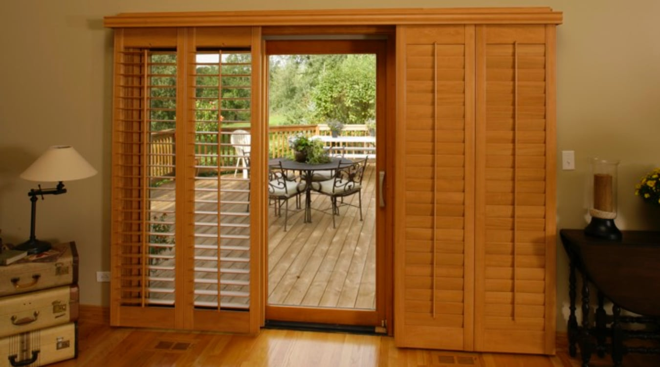 Sliding Glass Door Shutter In Gainesville