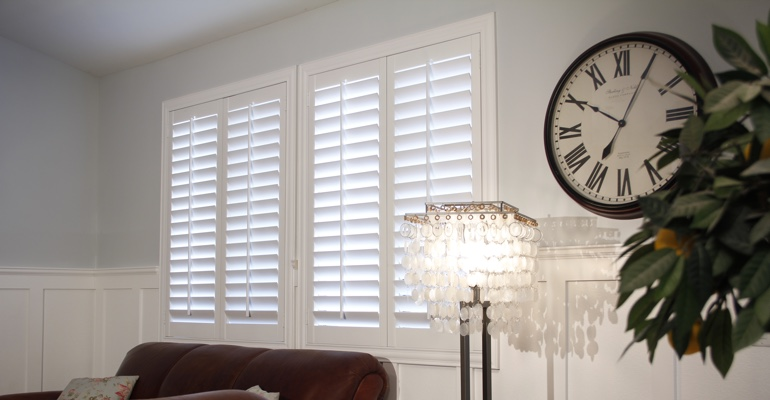 Gainesville living room indoor shutters