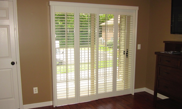 Gainesville sliding door bifold shutters in patio