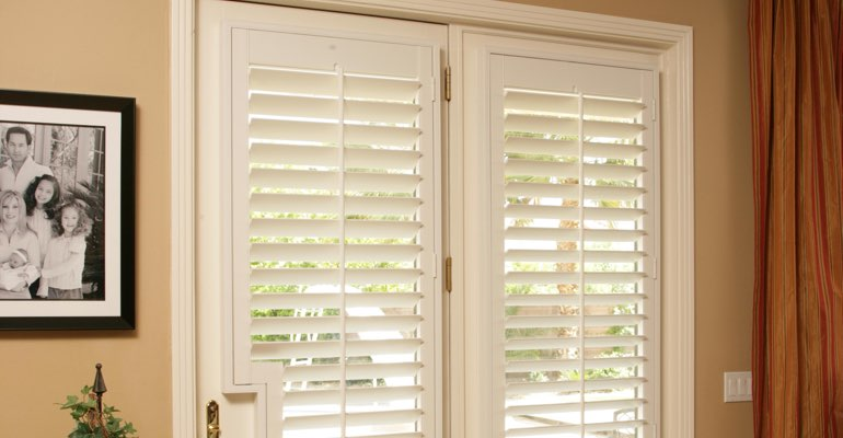 Gainesville french door white shutters