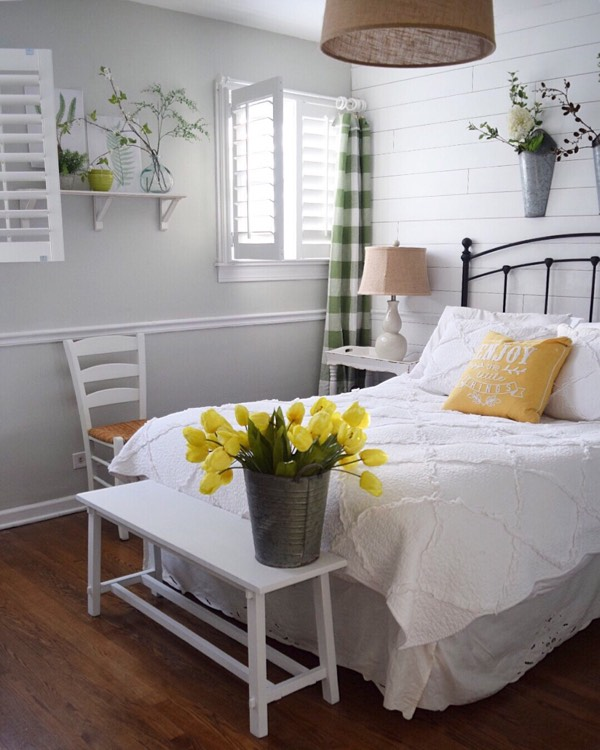 Gainesville cottage bedroom shutters