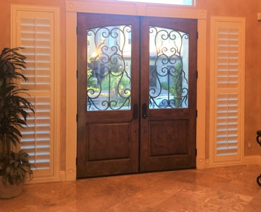Gainesville sidelight window treatment shutter