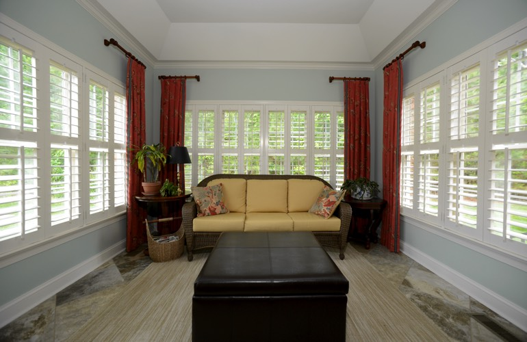 Plantation Shutters In A Gainesville Sunroom