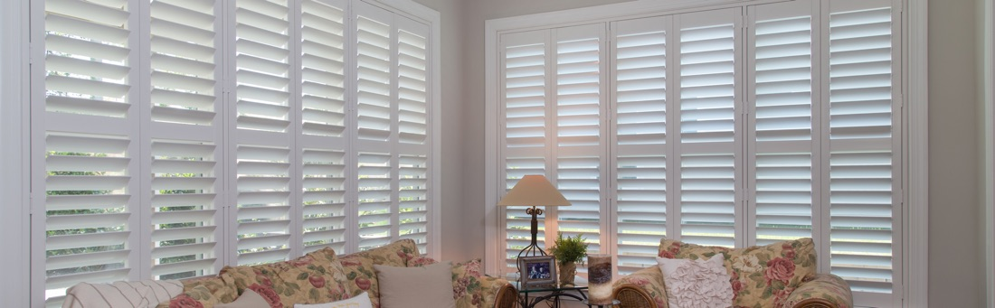 Shutters in Sunroom Keep Glare Away